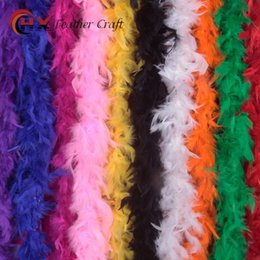 Wholesale Fancy Dress Accessories - Creative Feather Scarf Two Meters Multi Colors Plume Wrap For Wedding Dance Fancy Dress Decorations Costume Accessory 5xx B