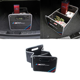 Wholesale Bmw E46 Emblems - KRADA Car styling m performance emblem Large Capacity Vehicle Storage Box for bmw e46 f10 e90 f30 x4 f20 f30 e39 x3 e36 x1 x5