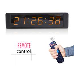 Levou relógio digital contagem regressiva on-line-[Ganxin] Mini 1 polegada 6 Dígitos 7 Segmento Led Display Suporte Contagem Regressiva / up Digital em Âmbar / Tubo Branco para o Relógio De Parede De Alarme Interior