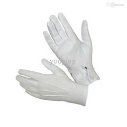 Wholesale Glove Guard - Wholesale-Hot Marketing 1Pair White Formal Gloves Tuxedo Honor Guard Parade Santa Men Inspection Jul2