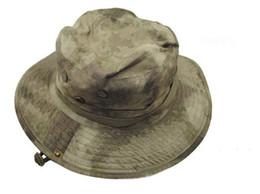 Táctico Combate del Ejército de los EE. UU. HATS Sombrero de sol Caps de ala redonda alrededor del borde alrededor del sombrero boonie ATACS para la pesca de caza desde fabricantes