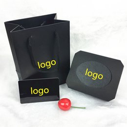 Wholesale Jewelry Brand Ring Box - Bvlgar* famous brand black necklace and bracelet and ring box set with original certificate jewelry gift box free shipping PS4413