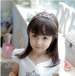 Wholesale Children Crowns Tiaras Plastic - Hot Sale Princess Accessory Children Crown Baby Girls Fashion Hair Crowns Beauty Party Dress Hair Accessory Crown