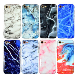 Wholesale Iphone Water Dhl - DHL Free Thick TPU Housing Cover Soft IMD Cases Phone Protective Shell Marble Grain Case for iPhone X 6 6S 7 8 Plus
