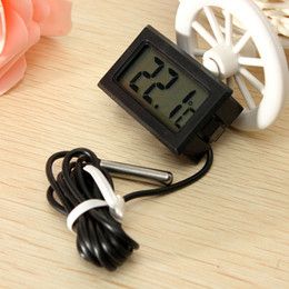 Wholesale Incubator Digital - 2015 Free Shipping White LCD Digital Embedded Thermometer Hygrometer Probe Meter for Incubator Aquarium Reptile Greenhouse