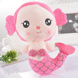 Wholesale Wholesale Mermaid Toy - Creative Plush Doll Mermaid Pattern Kid Toy For Birthday Gift Pink 22x19.5cm,2*1PC