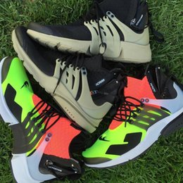 Wholesale Sports Shoe Zippers - Air Presto MID Acronym Sports Shoes For Men Mid Cut Athletic Shoes High Quality Sneaker Boots Trainers With Zipper 4 Color 40-45
