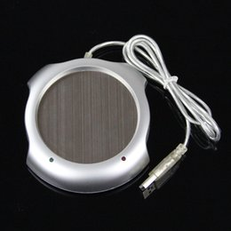 Wholesale Coffee Warming Pad - 2015 Hot Fast USB Tea Coffee Warmer Heater Cup Mug Pad 4 Port USB Hub Office PC Laptop