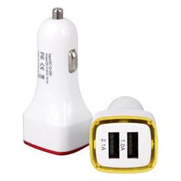 12-вольтовый автомобильный адаптер Скидка Ракета Дизайн Свет 5v 2A Dual USB Автомобильное Зарядное Устройство Адаптер Для IPhone 6 7 Samsung Универсальный Coche Cargador 100 Шт.