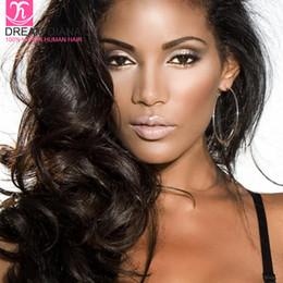 Cabelos indianos on-line-Grau indiano peruano cabelo virgem não processado 7a com closage tissage cheveux humain 4 pacotes onda do corpo brasileiro com fechamento do laço