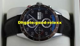 Wholesale calibre 16 black dial - Luxury Mens Brown Bezel Black Dial Watch Calibre Day Date 16 Men Leather CV2A12 Dive Watches