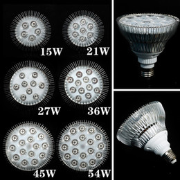 Wholesale E27 Led Blue Spotlight - 1X Full Spectrum LED Grow Lights 21W 27W 36W 45W 54W E27 LED Grow Lamp PAR 38 30 Bulb For Flower Plant Hydroponics System Grow Box Spotlight