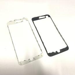 2019 assemblage lunette iphone Pièces d'assemblage de support d'affichage à cristaux liquides de cadre moyen avant de cadre noir avant de couleur noire pour l'iPhone 8 8G 8+ 8 plus assemblage lunette iphone pas cher