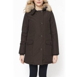 Wholesale Long Goose Coats For Women - Winter warm coat and jacket for woman Artie Long Parka Winter jacket women Brown coat snow and cold Multiple pockets Windbreaker
