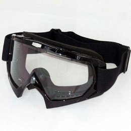 Wholesale Motorcycle Colours - Wholesale-Snowboard Snowmobile Motorcycle Goggles Off-Road Eyewear Colour Clear Lens T815-7 Free Shipping