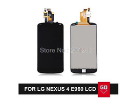 Wholesale lg nexus digitizer - Wholesale-100% Guarantee For LG Google Nexus 4 Optimus E960 LCD Screen Display With Touch Screen Digitizer Assembly