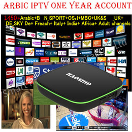 Wholesale Iptv One - one year iptv subscription FireTV with 1450plus Arabic Europe Africa Amercia live tv good for android enigma2 mag box m3u
