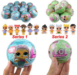 Wholesale Dolls Bottles - LQL SURPRISE DOLL Series 1 2 Random Colors Doll Dress Toy Surprise Eggs Kids Toys For Children Christmas Gifts WITHOUT BOX