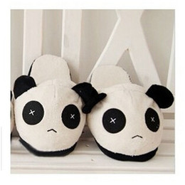 Wholesale Boys Home Slippers - New Winter Soft Sole Shoes Lovely Panda Plush Warm Home Slippers for Girls Boys Thermal Lovers Novelty Indoor Slippers Gift