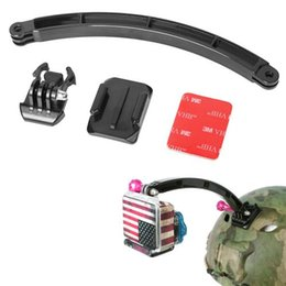 Wholesale Gopro Adhesive - Gopro Accessories Surface Quick-Release Buckle + Curved Adhesive Mount + Extension Arm Helmet Kits for GoPro Hero3