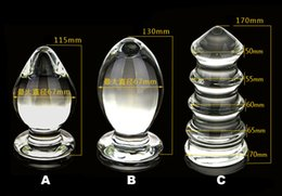Wholesale Glass Anal Sex Toys - New Arrival Large Glass Sexy Anal Insert Plug,Suitable For BDSM Adult Games Fisting Both Male And Female Fetish Sex Toys