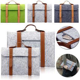 Wholesale 11 Inch Laptop Computers - Felt Bag sleeve 10 11 13 15 inch Universal Notebook tablet Computer Laptop Sleeve Bag Case for Macbook Air Pro Retina HandBag Men Women