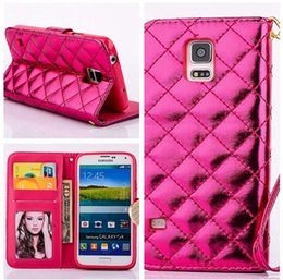 Wholesale S3 Diamond Flip Cover - Sheepskin Photo Frame Leather Case For Samsung Galaxy S5 S4 S3 mini Note 4 Note 3 Luxury Diamond bling Flip Wallet Credit Card Holder Cover