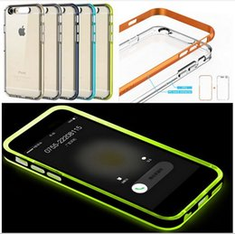 Wholesale Blink Phone Case - ROCK Outlets Light Tube Series phone shell for iPhone 6 6s 4.7'' Plus 5.5 inch Case Glitter TPU Incoming Call LED Blink Phone Case Cover