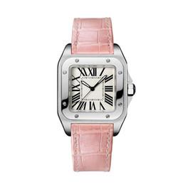 Wholesale New Ladies Geneva Watch - Luxury Top Brand Women Square Watches Geneva Genuine Leather Quartz Watches High Quality Fashion Lady Dress Watches
