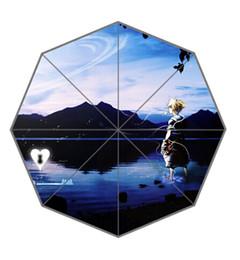 Wholesale Kingdom Hearts Free - Wholesale-Free Shipping Custom Umbrella Out Door Supply Hot Sale Durable The Kingdom Hearts Portable Folding Umbrellas #UN-229