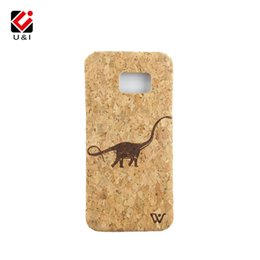 Wholesale Wooden Dragons - For Samsung S7 S7Edge Edge U&I Real Cork Wood Dragon Carving Cover Phone Fundas custom Wooden Phone Protector Coque Capa For Galaxy S7Edge
