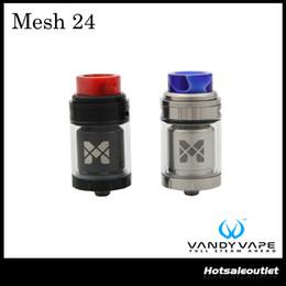 Wholesale Cigarette Mesh - Authentic Vandy Vape Mesh 24 RTA Tank 2ml 4ml Electronic Cigarette Atomizer fit for Drag 157w Pulse BF Box Mod