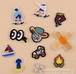 Wholesale Embroidered Anchor Patch - Kids Skateboard shoe Anchor Drink OMG Bestbaby Patches Iron On Or Sew Fabric Sticker For Clothes Badge Embroidered Appliques DIY LY