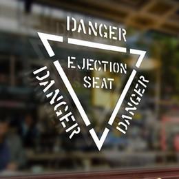 Wholesale Windows Pc Laptop - Danger Ejection Seat Warning Vinyl Stickers Decal Car Auto Laptop PC