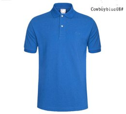 Wholesale Classic Polo Shirts For Men - 2018 New Brand Men Polo Shirt Mens Solid Polo homme Casual Short sleeve Tops for Man Full High quality embroidery Cotton Plus Size