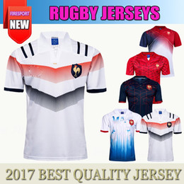 Wholesale Men Shirt Red Xxl - 2018 New France Super Rugby Jerseys 17 18 France Shirts Rugby Maillot de French Rugby Jersey Size S-3XL Best Quality
