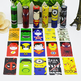 Wholesale Shrinkable Sleeve - popular 18650 battery PVC Skin Sticker Shrinkable Wrap Cover Sleeve Heat Shrink Re-wrapping for Batteries Charger Wrapper