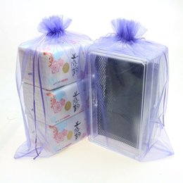 Wholesale Custom Printed Plastic Bags - 30x40cm Purple Organza Jewelry Bags Embalagem Para Doces Tea Storage Bags Printed Logo Custom Jewelry Bags 100pcs lot Wholesale