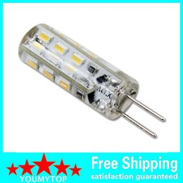 Led luci g4 dimmable 12v online-Alta qualità Dimmable G4 Led 12 V 24 Leds 3014 Chip Silicon Lampada DC12V Crystal Corn Light 3W Lampadina 30 Pz / lotto
