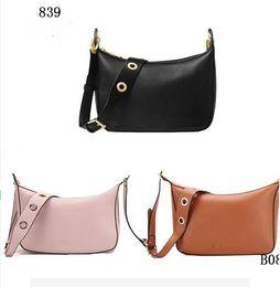 Wholesale Black Leather Hobo Purse - 2017 women bags M famous brand luxury lady PU leather handbags famous Designer brand bags purse shoulder tote Bag selma 839