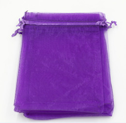 Wholesale Party Bag Gifts - Hot Sales ! 100pcs With Drawstring Organza Gift Bags 7x9cm 9x11cm 10x15cm etc. Wedding Party Christmas Favor Gift Bags (Purple)
