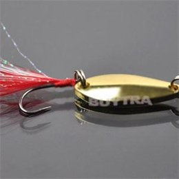 Wholesale Good Quality Lures - Good Quality New Artificial Fishing Lure Bait Treble Feather Sequined Fish Hook Baits Swimbait Fishing Lures Silver Gold