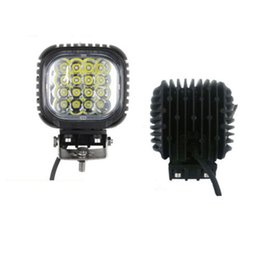 Wholesale Led Fog Lights Square - 48W LED Work Light Lamp 16X3W LED light for Jeep Truck Tractor Boat Off Road ATV spot flood beam led fog work light
