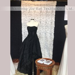 Wholesale Ships Free Photography Backdrops - Free shipping popular and romantic 1.3mWx3mH white rose curtain 1PCS for wedding and photography backdrop