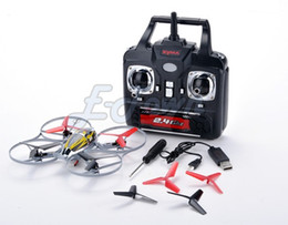 Wholesale Rc Helicopter Drop Shipping - Wholesale-New Drop Shipping Symax4 2.4Ghz 4CH UFO Remote Control RC Helicopter Quadcopter Aircraft Gyro RTF B20 SV007568