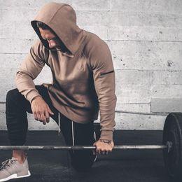Wholesale Men Leisure Tracksuit - Wholesale- Mens hoodies gyms Fitness Sweatshirt Fashion leisure Pullover Hooded Jacket Tracksuits Brand clothing Slim Fit Sportswear
