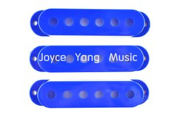 Wholesale Guitar Single Coil - New Blue Single Coil Pickup Covers For Fender Strat Style Electric Guitar Free Shipping Wholesales