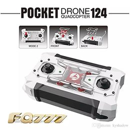 Wholesale Model Gyro - 2016 Free Shipping Drone FQ777 124 Micro Pocket Drones 4CH 6Axis Gyro Switchable Controller Mini Quadcopter RTF RC Helicopter Kids Toys