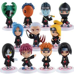 Wholesale Naruto Base - New Product New! JP Anime NARUTO 6cm-7.5cm Mini PVC Figure Set with Base includes 11 Pcs