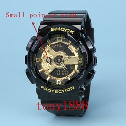 Wholesale light green watch - AAA Top Quality men watch All pointer work GA 110 Men sports watches LED light watch 110 digital watches with Box